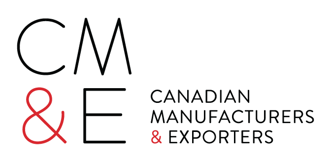 black  CME Logo with word mark ENG Supply Chain Canada